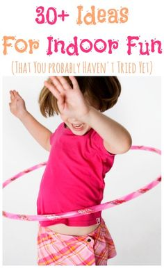lots of fun ideas for indoor play for the kiddos! My little ones will thank me later for pinning this!