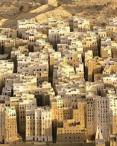 Shibam City , Hadramout, Yemen. The world's oldest skyscapers.