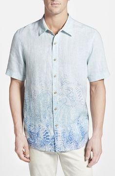 Men's Tommy Bahama 'Pazatano Breezer' Island Modern Fit Short Sleeve Sport Shirt