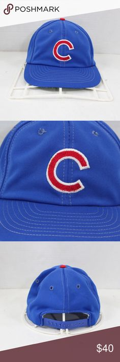 81300a3face99 Vintage Sports Specialties Chicago Cubs Hat Blue Vintage 80s Sports  Specialties Chicago Cubs Baseball Snapback Hat
