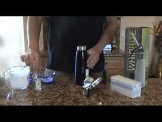 This recipe will show you how to make vodka infused whipped cream using a whipped cream dispenser. You can substitute any type of alcohol you would like maki. Recipe Videos, Food Videos, Whipped Cream Dispenser Recipe, Sweet Whipped Cream, Infused Vodka, Toy Kitchen, Liqueurs, Fun Drinks, Blame