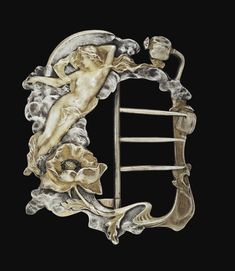 La Nuit ..Silver Buckle ..France Circa 1900. Sotheby's Paris March 2007