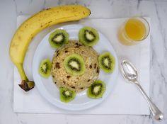 Bowl cake banane et kiwi Kiwi, Bowl Cake, Menu, Bagel, Bread, Fruit, Food, Fight For, Banana