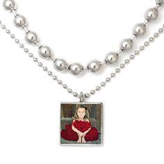 cute photo necklace idea $38.00