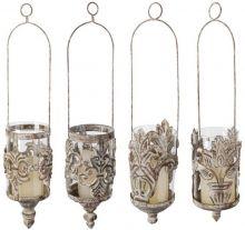 brocant ijzer hangende lantaarns 4 modellen brocant ijzer  glas