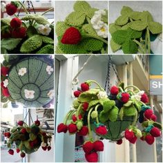 Knitted Strawberry Basket | The WHOot