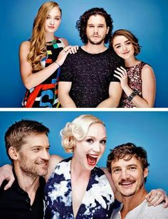 Game of thrones cast cute. Sophie Turner, Kit Harington, Maisie Williams, Nikolaj Costa Waldeau. Sansa Stark, Arya Stark, Jon Snow, Jaime Lannister, Brienne of Tarth, Oberyn Martell