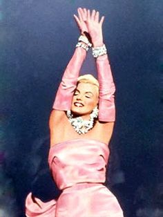 My fav Marilyn Gown: The iconic pink satin gown that Marilyn Monroe wore in the 1953 movie Gentlemen Prefer Blondes