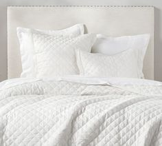 Belgian Flax Linen Diamond Quilt Full/Queen Ivory At Pottery Barn Bedding Quilts Cute Bedding, Linen Bedding, Bed Linens, Comforter Sets, King Comforter, Bedding Sets Online, Luxury Bedding Sets, Modern Bedding, Cover