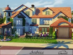 Arabesca is a beautiful Mediterranean family home built on 40x30 lot in Oasis Springs. Found in TSR Category 'Sims 4 Residential Lots'