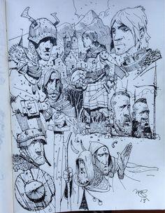 Sketchbook: character doodling.
