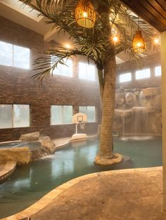 """One of the most impressive features of William's home is the indoor swimming pool, complete with waterfalls, a spa and a basketball hoop. """"I told my real estate agent that I really wanted an indoor pool. That was number one on the list. He searched high and low, and then I found this place all on my own on a tip,"""" William says."""