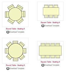 Banquet Seating Chart Template  Banquet Table Size Seating
