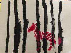 animaux de la savane le zèbre peinture