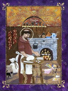 San Pasqual by Sue Betanzos  San Pasqual is the patron saint of cooks and kitchens