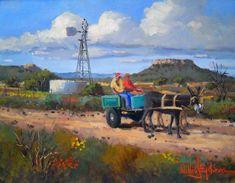 Willie Strydom - Donkeys in the Karoo x Art Gallery, Art Painting, Cool Art Drawings, Southwest Art, Farm Art, Art Village, Art, African Art Paintings, Canvas Art
