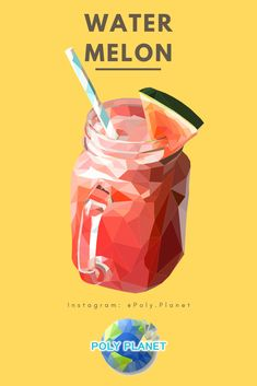 How will this taste? Taste like polygons?  Visit our site to download the low-poly drawing app! Low Poly, Watermelon, Drawing, Drinks, Art, Drinking, Art Background, Beverages, Kunst