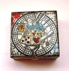 Alice In Wonderland Jewellery Box, Hand Painted Trinket Box by…