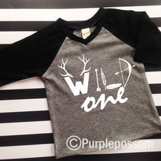 Birthday Shirt wild one Birthday Shirt Many Colors by PurplePossom