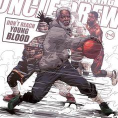 """ถูกใจ 1,452 คน, ความคิดเห็น 58 รายการ - HYPER-3 (@hyper_three) บน Instagram: """"#uncledrew #drew #kyrieirving #cleverlandcavaliers #cavs #nbaART #illustration #artwork"""""""