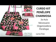 Nécessaire Organizadora - 3a aula curso kit Penélope Charmosa - YouTube Kit, Couture, Ted Baker, Tote Bag, Pattern, Crafts, Bags, Professor, Fabric Tote Bags