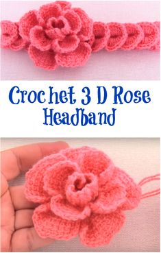 Crochet 3 D Rose Headband Today you will learn how to crochet very attractive rose headband. This project is quick and fun to make and we hope you will enjoy the video tutorial researched by us. Crochet Puff Flower, Crochet Flower Patterns, Crochet Flowers, Crochet Gifts, Diy Crochet, Crochet Ideas, Crochet Hair Accessories, Crochet Hair Styles, Crochet Headband Free
