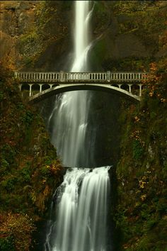 Multnomah Falls, on the Columbia River in Oregon