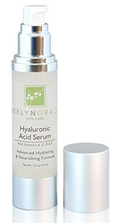 Hyaluronic Acid Serum with Vitamin C  Skin Smoothing Anti Aging Moisturizer  Stimulate Collagen  Hydrate and Repair  Reduce Wrinkles  Fine Lines  Skin Tightening  Dark Spot Removal  Large 2oz *** Read more reviews of the product by visiting the link on the image.