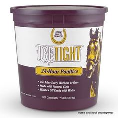 Farnam IceTight This effective 24-hour leg clay needs one application and can be used instead of tubbing icing or hosing It contains natural clays.