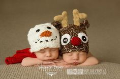 I want twins for this reason! <3 So CuteReindeer Christmas Newborn Photo Props Holiday by CustomPhotoProps, $28.00