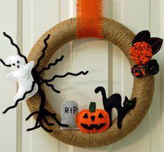 Haunted Halloween Wreath