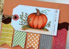 Lockhart Stamp Company pumpkin Fall birthday stamp & My Favorite Things dies, colored with Copic markers.