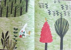 Illustrations by Catarina Sobral, in Vazio, a wordless picture book, Pato Lógico Editions, Portugal.