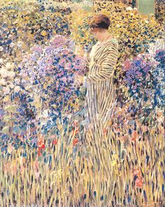 """Lady in a Garden"" by Frederick C. Frieseke, circa 1912."