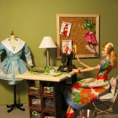Sewing room for Barbie