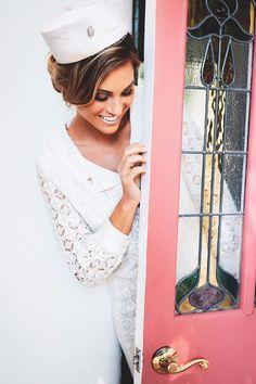 Jen is ready to go in her vintage honeymoon getaway outfit.  See more here: http://www.paulvonrieter.com/blog