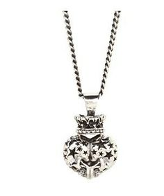 King Baby Studio Double Skull Crowned Pendant #accessories  #jewelry  #necklaces  https://www.heeyy.com/suggests/king-baby-studio-double-skull-crowned-pendant-sterling-silver/