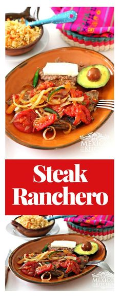 I called this recipe Steak Ranchero My Way because the ingredients for the sauce are neither chopped nor ground, but the end result is just as delicious. #steakhouse #mexicanfood #style