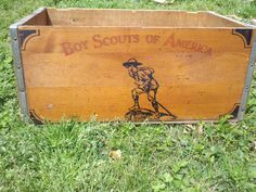 Vintage Boy Scouts of America Wooden Crate