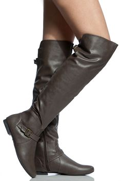 Taupe Faux Leather Knee High Riding Boots @ Cicihot Boots Catalog:women's winter boots,leather thigh high boots,black platform knee high boots,over the knee boots,Go Go boots,cowgirl boots,gladiator boots,womens dress boots,skirt boots.