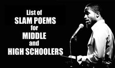 Spoken word poetry is an amazing way to get teens engaged with poetry, and here's a list of slam poetry videos that are both awesome AND appropriate for middle and high schoolers. TIME SAVER.