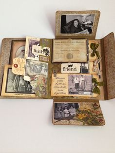 This is a great idea for small short projects with one theme, one holiday e.g., or something I have a lot of photos of, like Ralph, instead of trying to cram them all onto one or two pages in the scrapbook.
