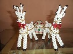 Resultado de imagen para carpetas navideñas en perlas paso a paso