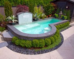 eclectic pool Above Ground Pool Landscaping Design Ideas