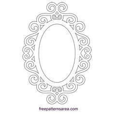 Embellished Silhouette Ornate Oval Frame Design - My Pin Scroll Saw Patterns, Scroll Design, Silhouette Frames, Snow White Birthday, Oval Frame, Pictures To Draw, Wood Art, Picture Frames, Decoration