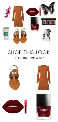 """random fall outfit"" by sonde-dhwani10 ❤ liked on Polyvore featuring Lime Crime and Kat Von D"