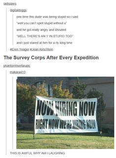 I THINK THEYRE HIRING NOW