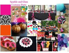 Glam-o-ween Party #weddings #moodboard created using www.sampleboard.com