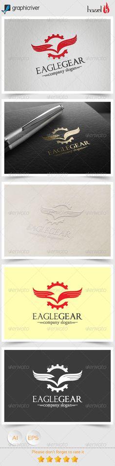 Eagle Gear Logo — Vector EPS #elegant #vector • Available here → https://graphicriver.net/item/eagle-gear-logo/8368337?ref=pxcr