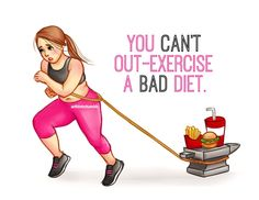 You Can& Out Exercise A Bad Diet fitness motivation exercise fitness quotes., You Can& Out Exercise A Badeort Diet fitness motivation exercise fitness quotes. You Can& Out Exercise A Badeort Diet fitness motivation e. Fit Girl Motivation, Fitness Motivation Quotes, Health Motivation, Weight Loss Motivation, Workout Motivation, Weight Loss Inspiration, Fitness Inspiration, Fitness Diet, Health Fitness